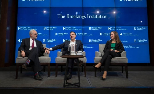 Τσίπρας στο Brookings: We have already eaten the camel...now there is the queue (video)