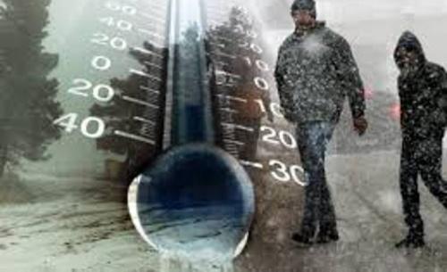 Δέκα βαθμούς κάτω από την εποχή η θερμοκρασία
