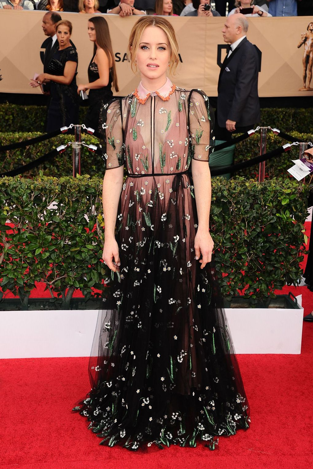 In Valentino for the SAG awards January 29 2017. min