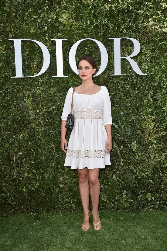 In Dior for the Designer of Dreams Exhibition Launch in Paris July 3 2017. min