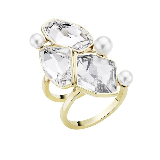 9 AS by Jason Wu Mosaic Double Ring Clear Crystal min
