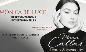 Σε νέες ημερομηνίες η παράσταση με τη Μόνικα Μπελούτσι ως Μαρία Κάλας