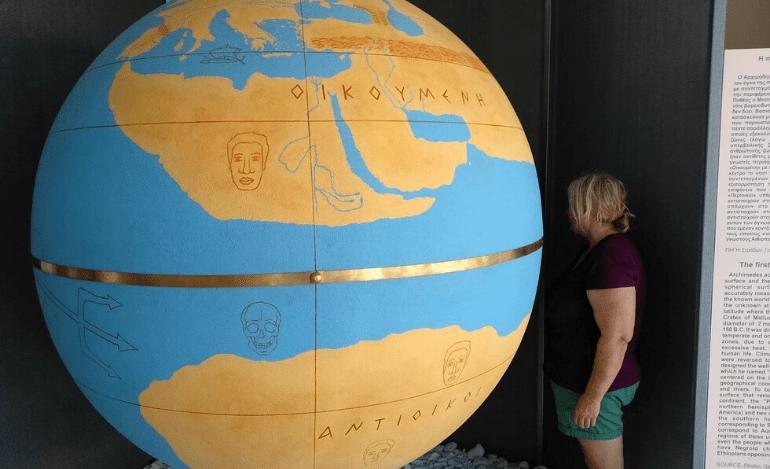Η Υδρόγειος Σφαίρα του Κράτη για πρώτη φορά παγκοσμίως στο Μουσείο Αρχιμήδη