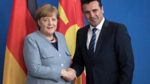 Μέρκελ: Καλωσορίζω τον Μακεδόνα Πρωθυπουργό Ζάεφ - Ποτέ άλλοτε δεν ήμασταν τόσο κοντά σε λύση