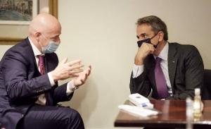 Χθες με τον πρόεδρο της FIFA, σήμερα με τον ΓΓ του ΟΗΕ, ο Μητσοτάκης