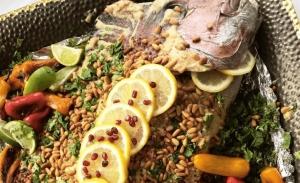Πικάντικο ψάρι με σάλτσα ταχίνι