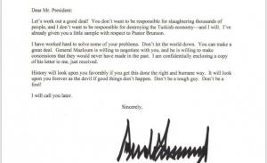 Ο Τραμπ γράφει στον Ερντογάν να μην είναι ανόητος και η Πελόζι τον χαρακτηρίζει «σε κλονισμό»