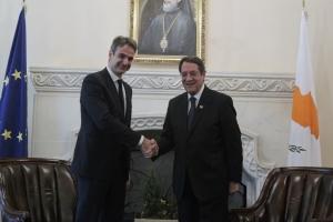 Επίσκεψη του Κυριάκου Μητσοτάκη στην Κύπρο
