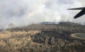 Ανησυχία για δασική πυρκαγιά κοντά στο Τσερνόμπιλ