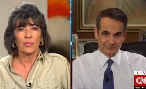 Ενθαρρυντική η τάση, μας περιμένει πολλή δουλειά, λέει ο Μητσοτάκης στο CNN