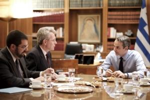Συνάντηση Μητσοτάκη με Πάιατ ενόψει της επίσκεψης στον Λευκό Οίκο