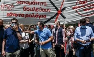 Τα στελέχη του ΣΥΡΙΖΑ αποφεύγουν το όνομα του αρχηγού...