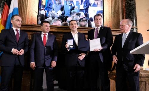 Τσίπρας: Το Βραβείο δεν ανήκει σε μας αλλά ανήκει στους λαούς μας και στο μέλλον των λαών μας