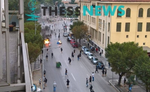 Επεισόδια στη Θεσσαλονίκη για την εκδήλωση του ΣΥΡΙΖΑ για το Σκοπιανό