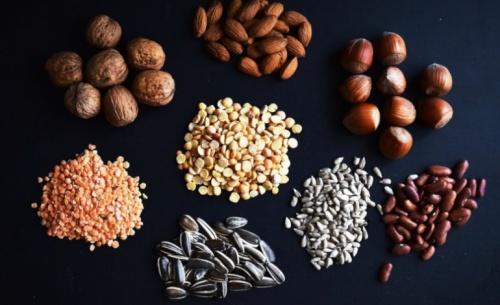 Πρωτεΐνη φυτικής προέλευσης από όσπρια, σπόρους, κινόα για δύναμη και απώλεια βάρους