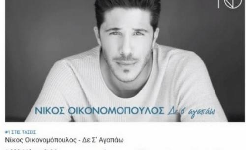 Νίκος Οικονομόπουλος: No1 στις τάσεις του YouTube για 2η εβδομάδα